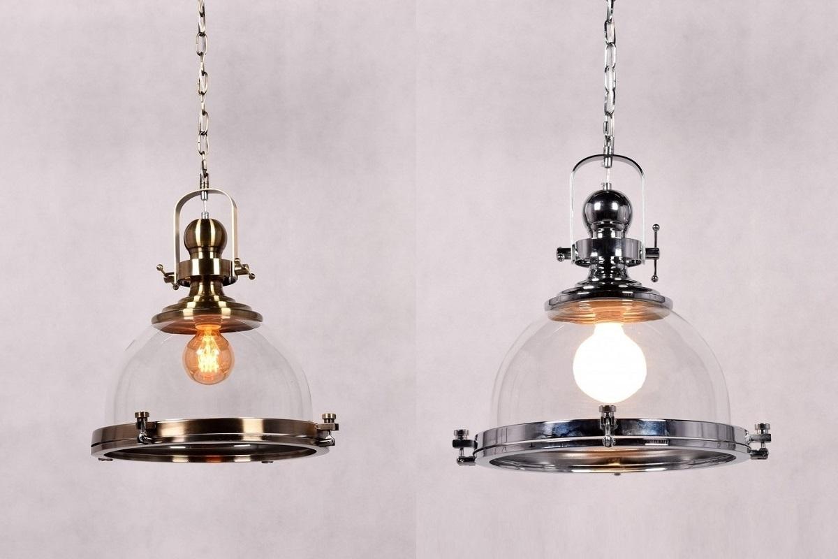 Lampadario in stile industriale vintage vetro e metallo colore cromato - Catalogo ikea lampadari ...
