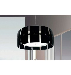 Lampadario a sospensione Optimatic W3 Nero