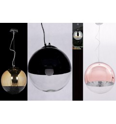 Lampadario a sospensione Tom Dixon Mirror Ball Rosa Oro