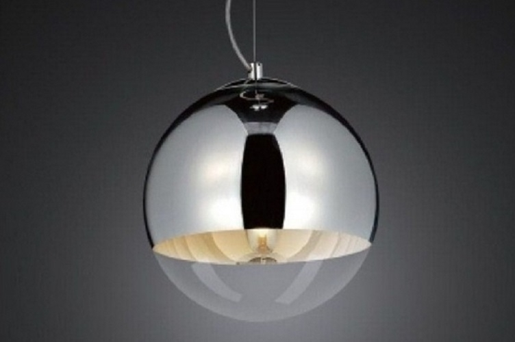Lampadario a sospensione Tom Dixon Mirror Ball Argento