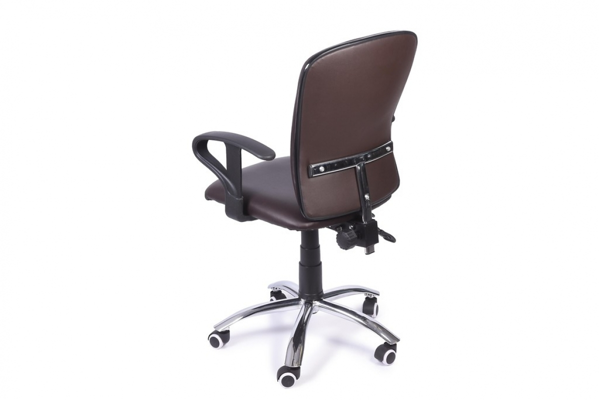 Poltrona ergonomica e economica da ufficio studio in ecopelle Marrone
