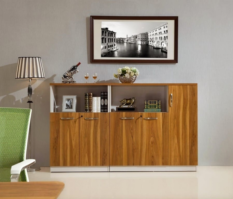 armadietto moderno basso a 2 ante per ufficio e studi