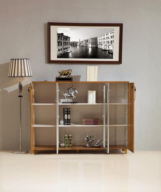 Armadietto libreria moderno 4 ante da ufficio studio o for Armadietto da ufficio