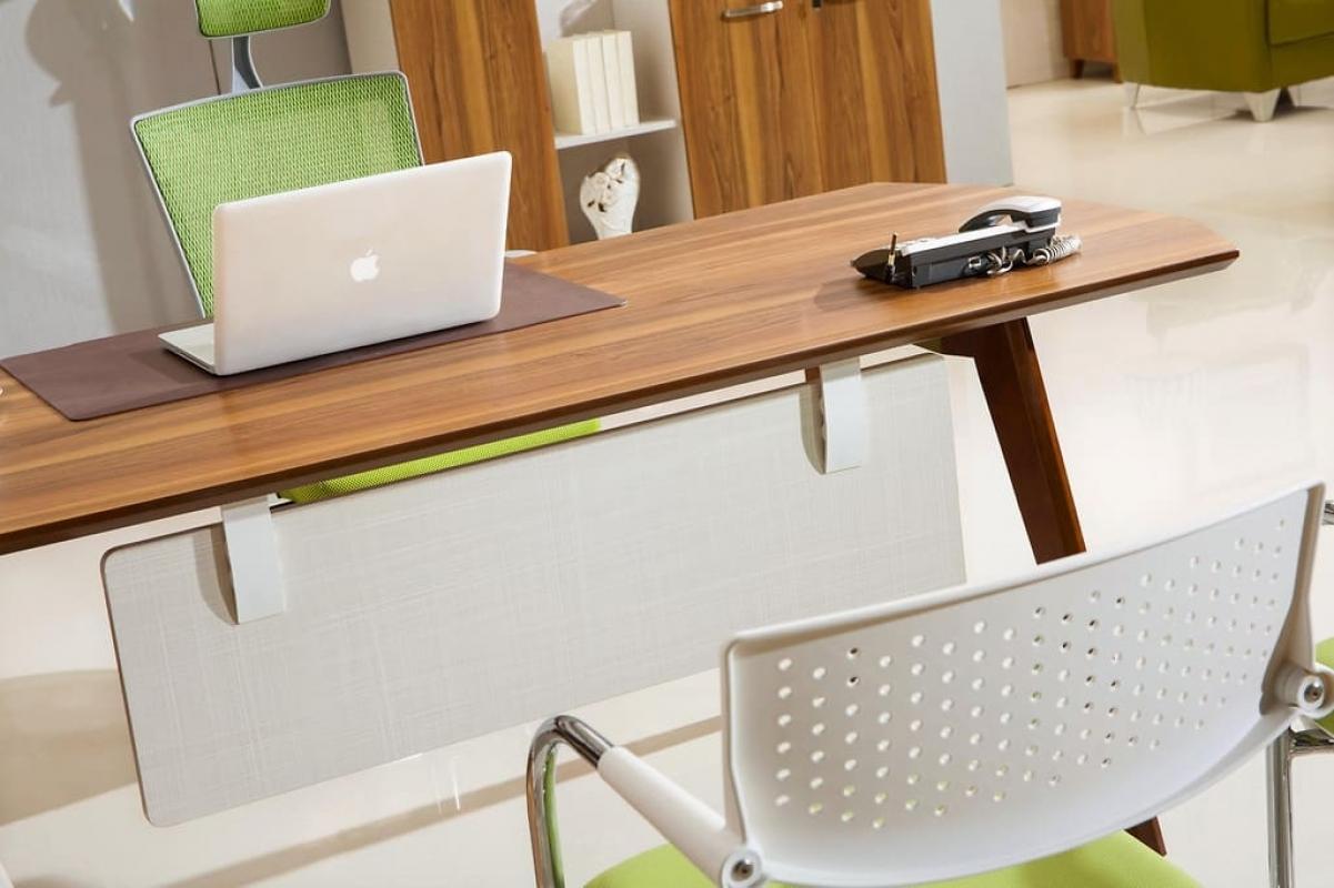 Scrivania moderna con mobile di servizio x ufficio - Mobile con scrivania ...