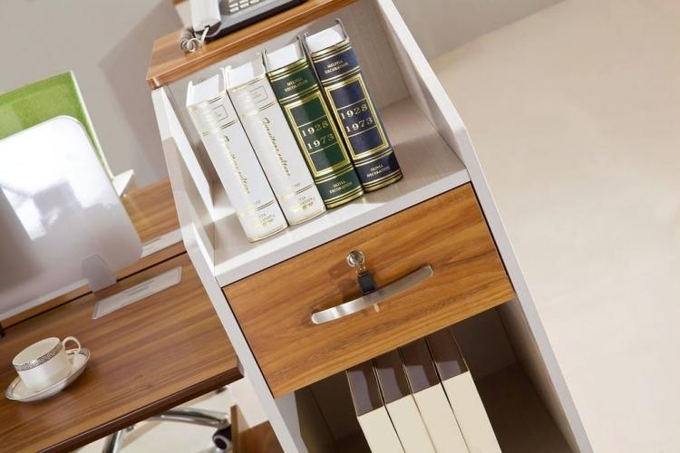 Scrivania ufficio doppia postazione in legno con cassetti ...