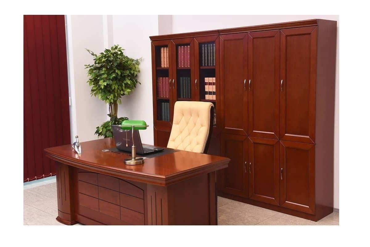 Arredo ufficio dirigenziale completo con scrivania da due for Scrivania arredo