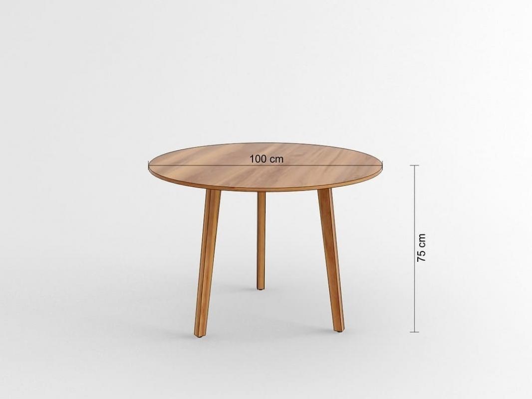 Tavolo moderno rotondo a 100 cm da ufficio studio per for Tavolo rotondo 70 cm