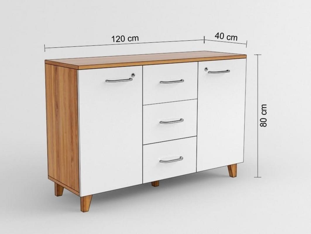 armadietto moderno basso a 2 ante e 3 cassetti per ufficio. Black Bedroom Furniture Sets. Home Design Ideas