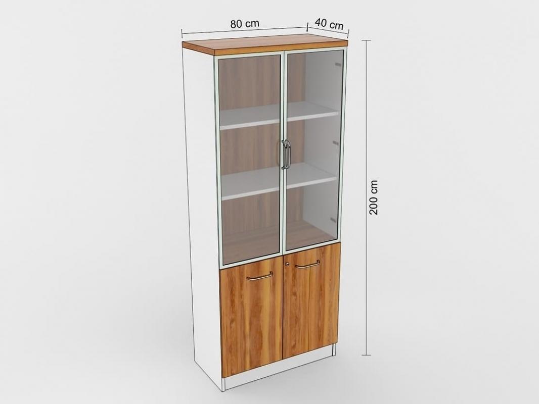 Armadio libreria moderno 2 ante per ufficio studio o open for Armadi x ufficio