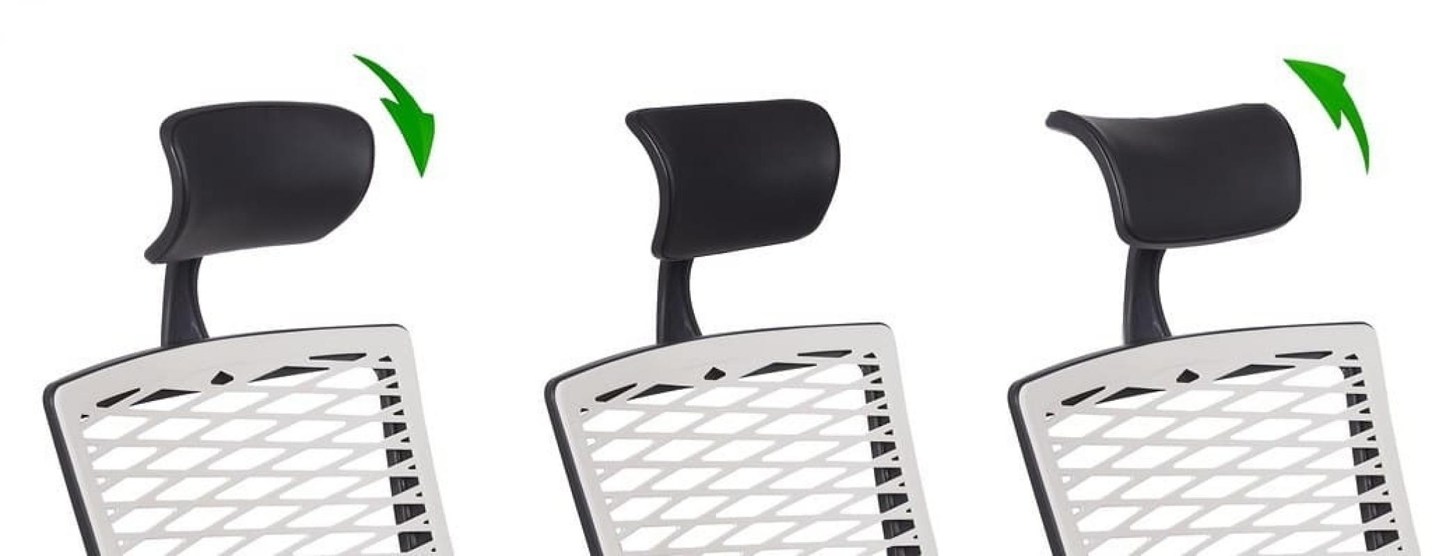 Poltrona ergonomica in rete traspirante da ufficio for Ufficio bianco e blu
