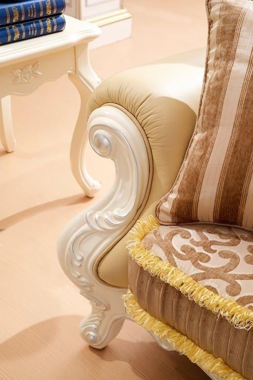 elegante e comoda divano 2 posti in stile classica di lusso - Soggiorno Classico Di Lusso 2