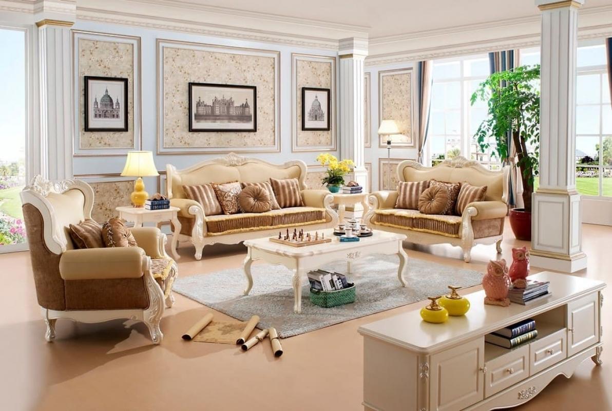 Elegante e comoda divano a 3 posti in stile classica di lusso for Soggiorno elegante