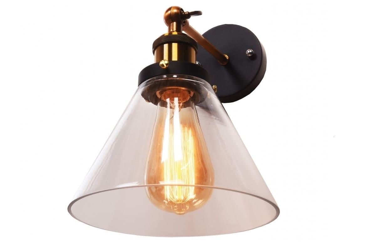 Applique lampada da parete da muro vintage a forma vaso in vetro nubi
