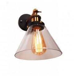 Applique lampada da parete da muro  in stile vintage loft a forma vaso in vetro Nubi