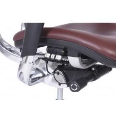 Poltrona ergonomica da ufficio 801 in pelle colore Prugna