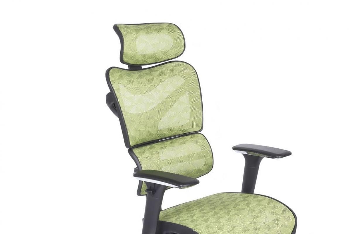 Poltrona sedia ergonomica per ufficio direzionale in rete for Ufficio verde