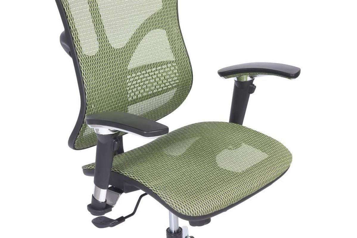 Poltrona ergonomica in rete traspirante da ufficio studio for Ufficio verde