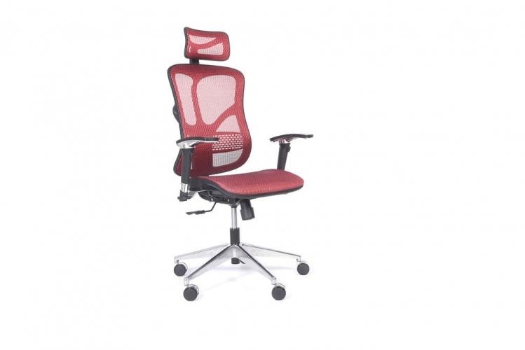 Poltrona ergonomica in tessuto da ufficio 521 Rosso