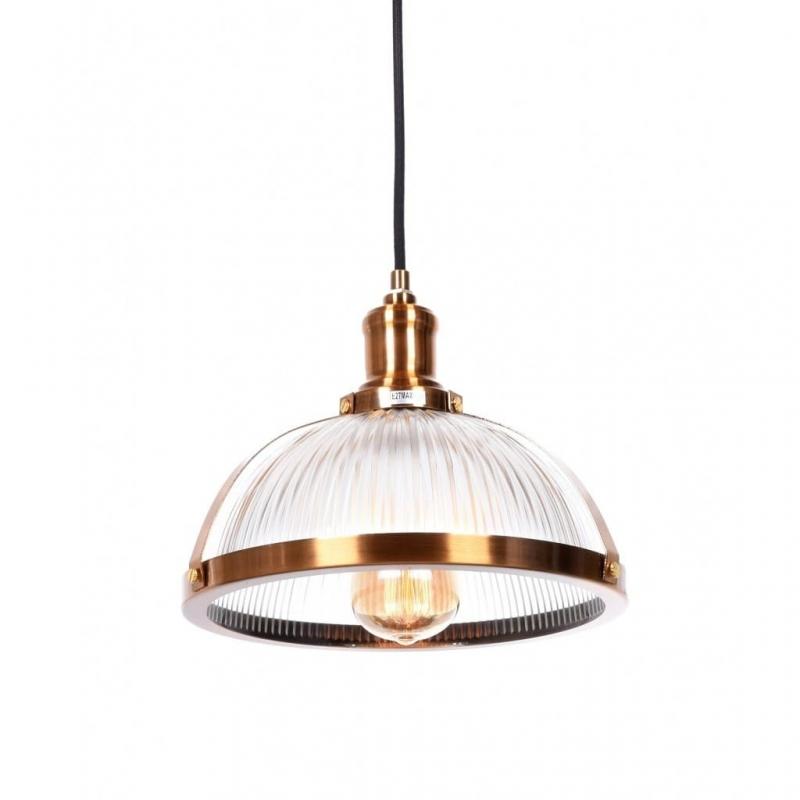 Lampadario in stile industriale vintage vetro e metallo for Lampadario a pale brico