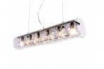 Lampadario moderno in cristallo Briza D60