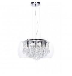 Lampadario a sospensione Ideal Lux AUDI Tosso D50 Trasparente
