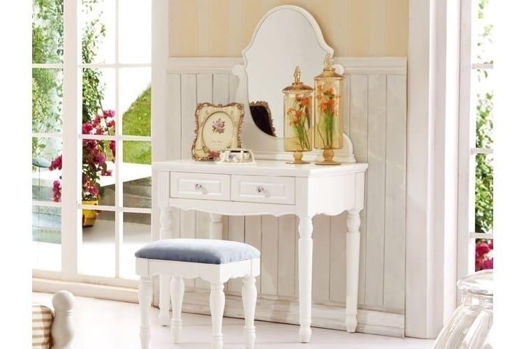 Toletta colore Bianco con specchio Princess 807