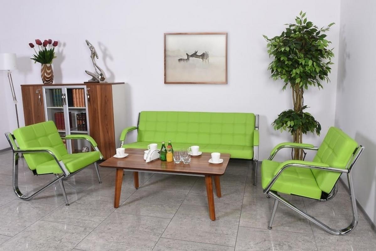 Poltrona moderna per ufficio o studio stilio in ecopelle verde for Ufficio verde