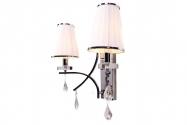 Applique lampada da parete Glamour W2 Bianco