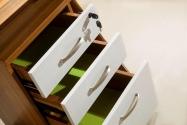 Cassettiera con 3 cassetti su ruote con chiusura centralizzata a chiave Evolutio