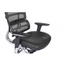 Poltrona ergonomica da ufficio Ergo 800 in pelle colore Nero