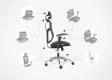Poltrona ergonomica da ufficio Ergo 500 Nero