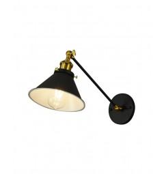 Applique lampada da parete da muro Stile Industriale vintage in metallo colore nero GUBI WT