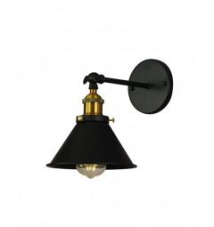Applique lampada da parete da muro Stile Industriale vintage in metallo colore nero GUBI W1
