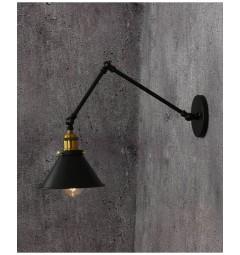 Applique lampada da parete da muro Stile Industriale vintage in metallo colore nero GUBI W2