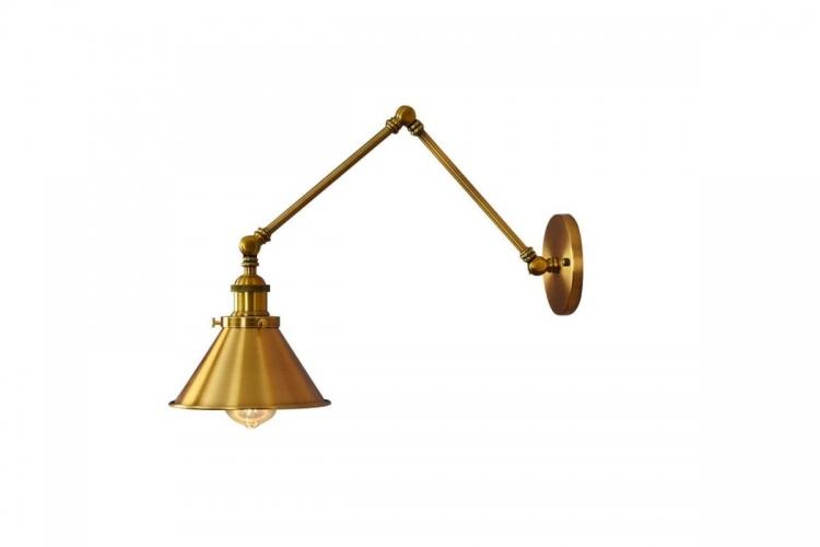 Applique lampada da parete da muro Stile Industriale vintage in metallo colore otton GUBI W2