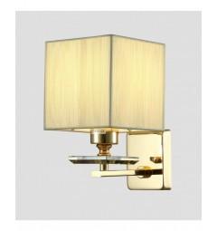 Applique lampada da parete muro in metallo, tessuto e cristalo Liniano W1 colore Oro