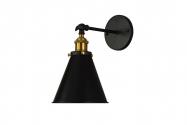 Applique lampada da parete RUBI W1 Nero