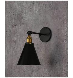 Applique lampada da parete da muro Stile Industriale vintage in metallo colore nero RUBI W1
