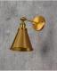Applique lampada da parete da muro Stile Industriale vintage in metallo colore ottone RUBI W1