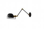 Applique lampada da parete Stile Industriale GLUM W2 Nero