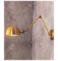 Applique lampada da parete da muro Stile Industriale vintage in metallo colore ottone angolo di inclinazione regolabile Glum W2