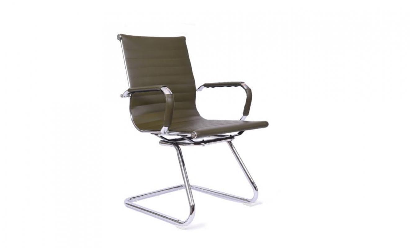 Sedia Per Sala Conferenza Riunione Comoda Elegante In Eco Pelle Khaki