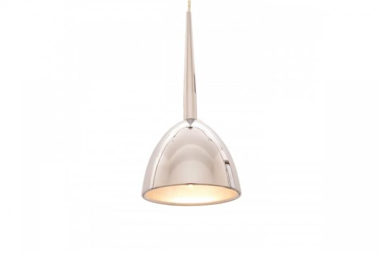 Lampada design a sospensione in metallo Bora colore Cromo Lucido
