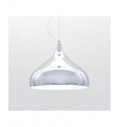 Lampada design a sospensione in metallo colore Cromato 7558