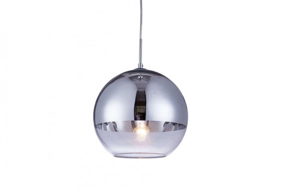 Lampada a sospensione design a sfera vetro colore cromato veroni d