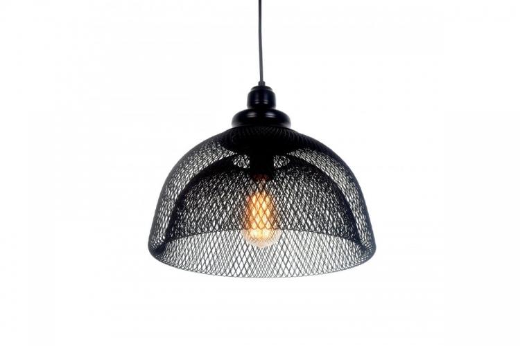 Lampada a sospensione in stile industriale vintage gabbia di metallo colore nero FENON