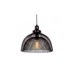 Lampada a sospensione in stile industriale vintage gabbia di metallo colore Marrone FENON