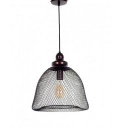 Lampada a sospensione in stile industriale vintage gabbia di metallo colore Marrone HILSTON