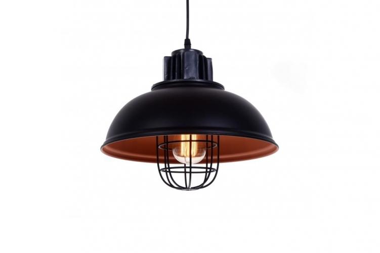 Lampade A Sospensione Vintage : Lampada a sospensione industriale vintage loft di metallo nero fuko