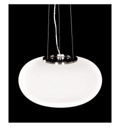 Lampadario design a sospensione in vetro bianco a forma di ciambella LDP 6091-450